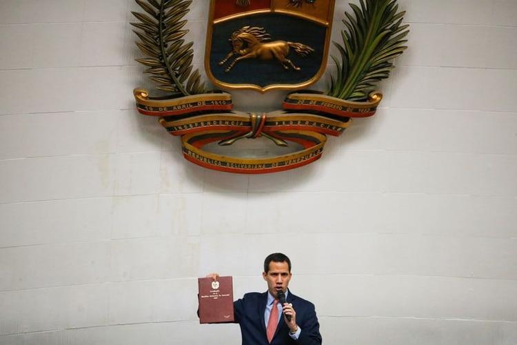 Juan Guaidó en la Asamblea Nacional. (REUTERS/Manaure Quintero)