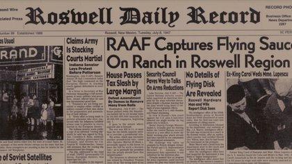 Un diario de 1947 reproduce una crónica en el cual se habla sobre ovnis divisados en una región norteamericana
