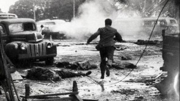 El bombardeo a la Plaza de Mayo del 16 de junio de 1955. El intento de derrocar y asesinar al presidente Perón dejó un saldo de 308 muertos y una cantidad enorme de heridos, muchos de ellos gravísimos