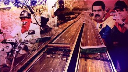 Nicolás Maduro, Vladimir Padrino López y los violentos colectivos chavistas