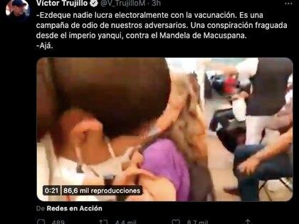 Víctor Trujillo criticó a AMLO por el supuesto uso electoral de la vacuna contra COVID-19 (Foto: captura de pantalla / Twitter@V_TrujilloM)