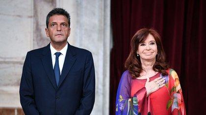 Los dos titulares del Congreso: Cristina Kirchner domina el saenado y Sergio Massa enfrenta un panorama más complejo en Diputados.