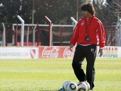 Dani Garnero duró unos pocos partidos como DT de Independiente en el 2010 (FotoBaires)