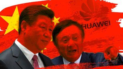 Xi Jinping y Ren Zhengfei, fundador de Huawei, aliada estratégica del régimen de China