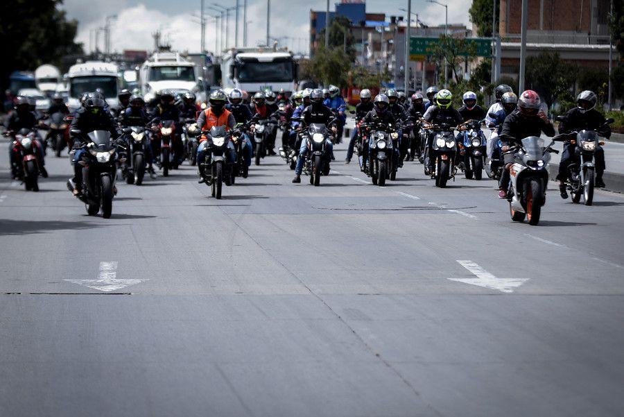 Motocicletas en Bogotá, Colombia. / Colprensa