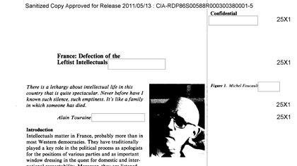 Michel Foucault, estudiado por los analistas de la CIA