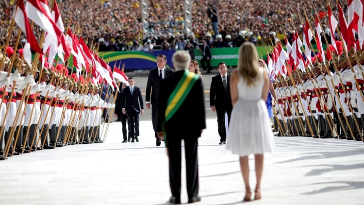 Michel Temer recibió a Jair Bolsonaro en el palacio presidencial (Reuters)