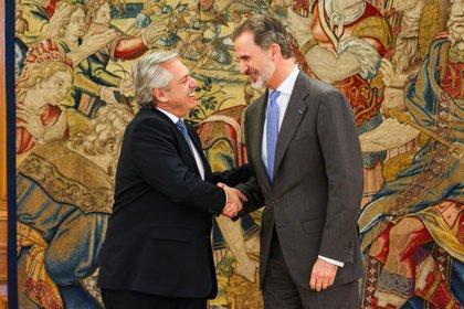 Alberto Fernández y el rey Felipe VI se reunieron en el palacio de la Zarzuela