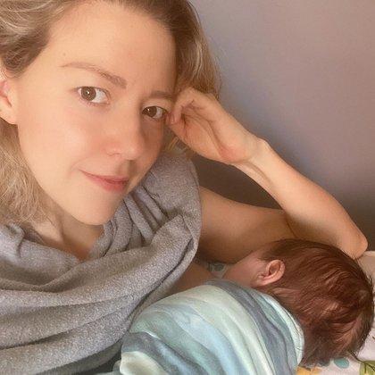 Con una tierna foto al lado de Liam, la actriz habló de su experiencia con la lactancia (Foto: Instagram @fernandacga)