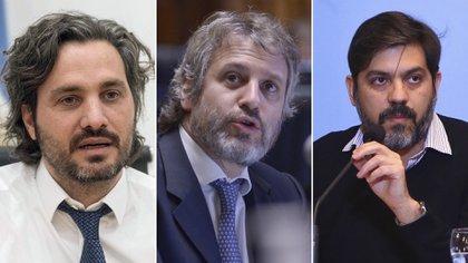 Santiago Cafiero, Felipe Miguel y Carlos Bianco, jefes de Gabinete de Nación, Ciudad y provincia de Buenos Aires