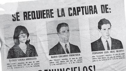 Arrostito, Firmenich y Abal Medina participaron del secuestro y la ejecución de Aramburu
