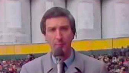 Mauro Viale en sus épocas de relator de fútbol