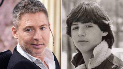 Adrián Suar en la actualidad y en su adolescencia