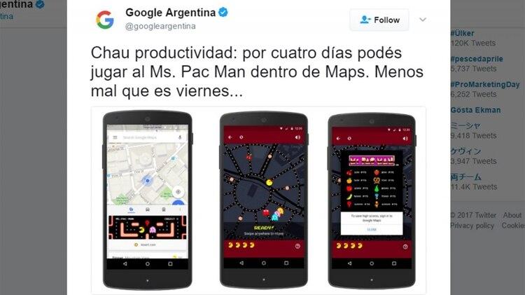 El Pac Man Llego A Google Maps Infobae
