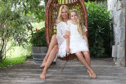 La modelo argentina cumplirá en mayo 21 años de casada con Alejandro Gravier, con quien tuvo cuatro hijos: Balthazar, Benicio, Tiziano y Taína