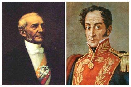 Manuel Antonio Sanclemente y Francisco de Paula Santander, los presidentes más viejo y joven, respectivamente, de la historia de Colombia.