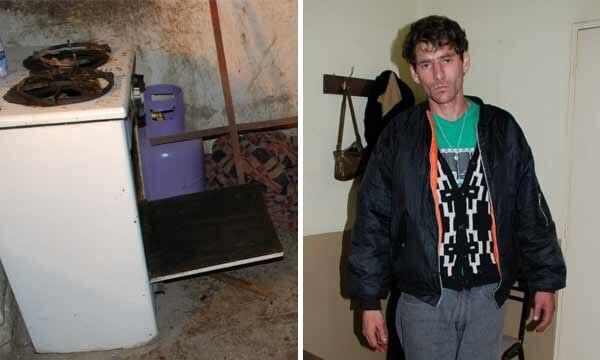 Raul Piñel y la cocina en la que preparó el guiso con los restos de su padre