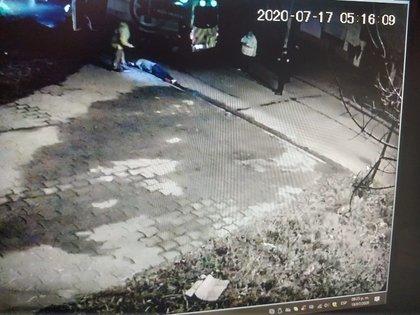 Imagen del momento posterior a que Ríos mató a quemarropa al ladrón