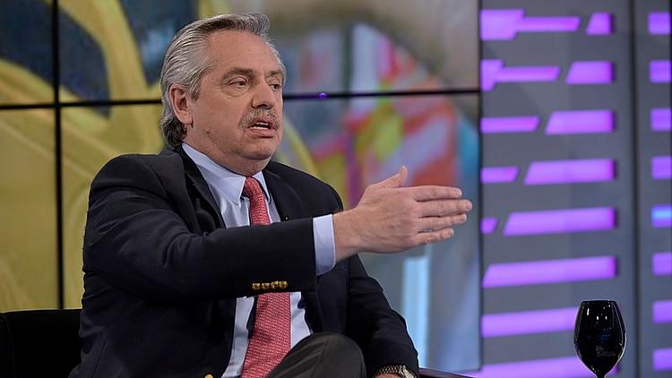 El candidato del Frente de Todos fue muy duro con el FMI y el Gobierno (Gustavo Gavotti)