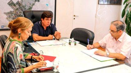 Durante el encuentro, el jefe comunal valoró a los empresarios matanceros
