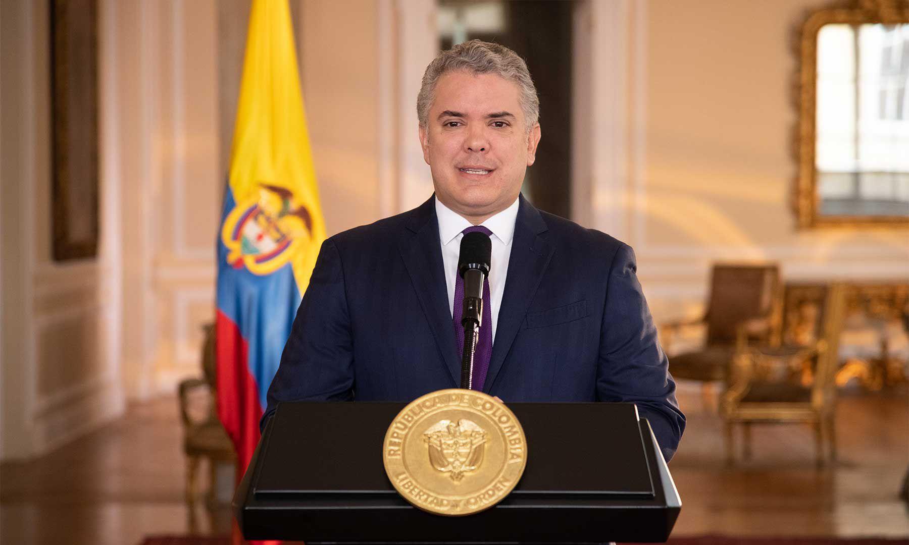 El presidente Iván Duque se pronunció con ocasión del Día del Trabajo. Foto Efraín Herrera, Presidencia de la República.