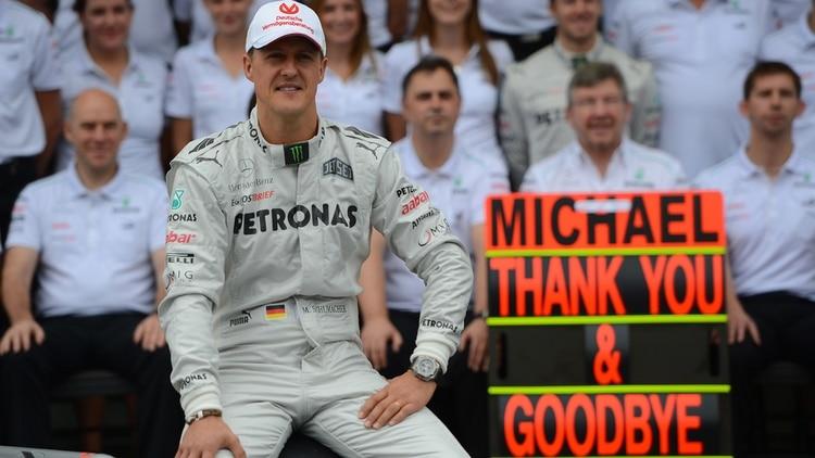 El 25 de noviembre del 2012, Schumacher se retiró de la Fórmula 1 (Photo by Yasuyoshi CHIBA / AFP)