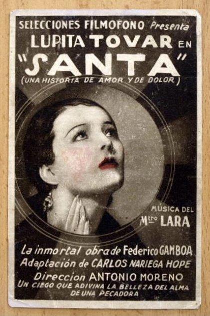 La novela de Federico Gamboa ya se había llevado al cine antes de Santa, en 1918 con una versión silente (Foto: Twitter@MuseoCulturas)