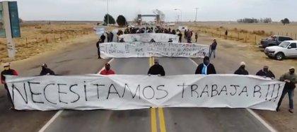 Una de las últimas protestas realizadas en los ingresos a la provincia de San Luis