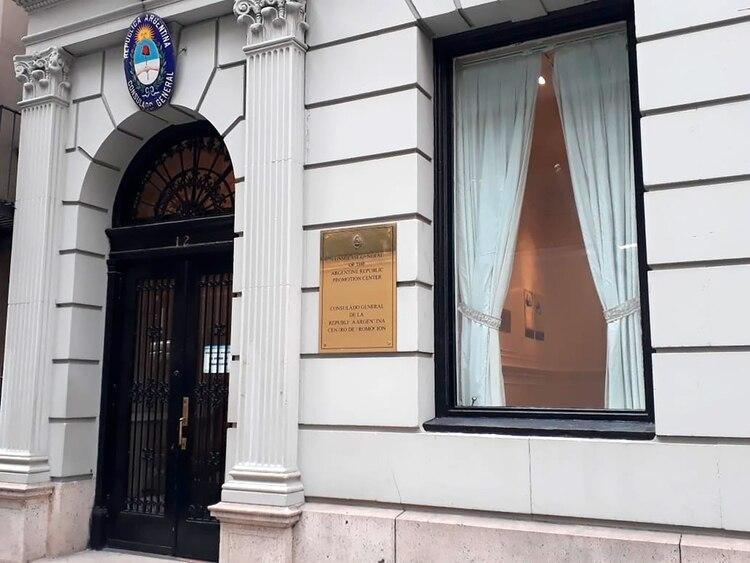 La fachada del Consulado local en Nueva York