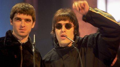 Los hermanos Gallagher, en 1995. (Alan Davidson/Shutterstock) (7528772bl)