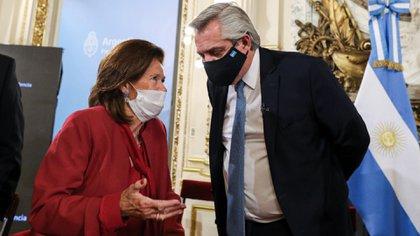 La jueza Elena Highton con Alberto Fernández