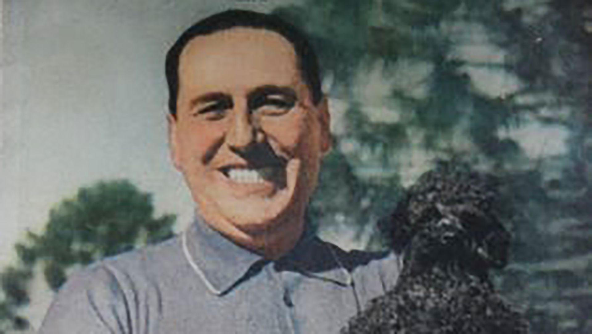 El ex presidente junto a uno de sus caniches