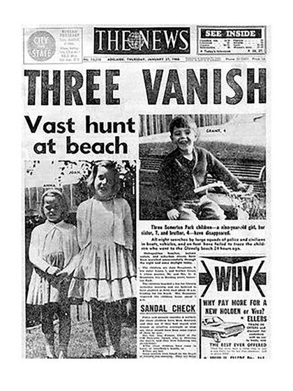 La desaparición de los hermanos Beaumont fue tapa de los diarios australianos por meses