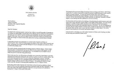 La invitación de Joe Biden a Alberto Fernández a la Cumbre de Líderes sobre Cambio Climático