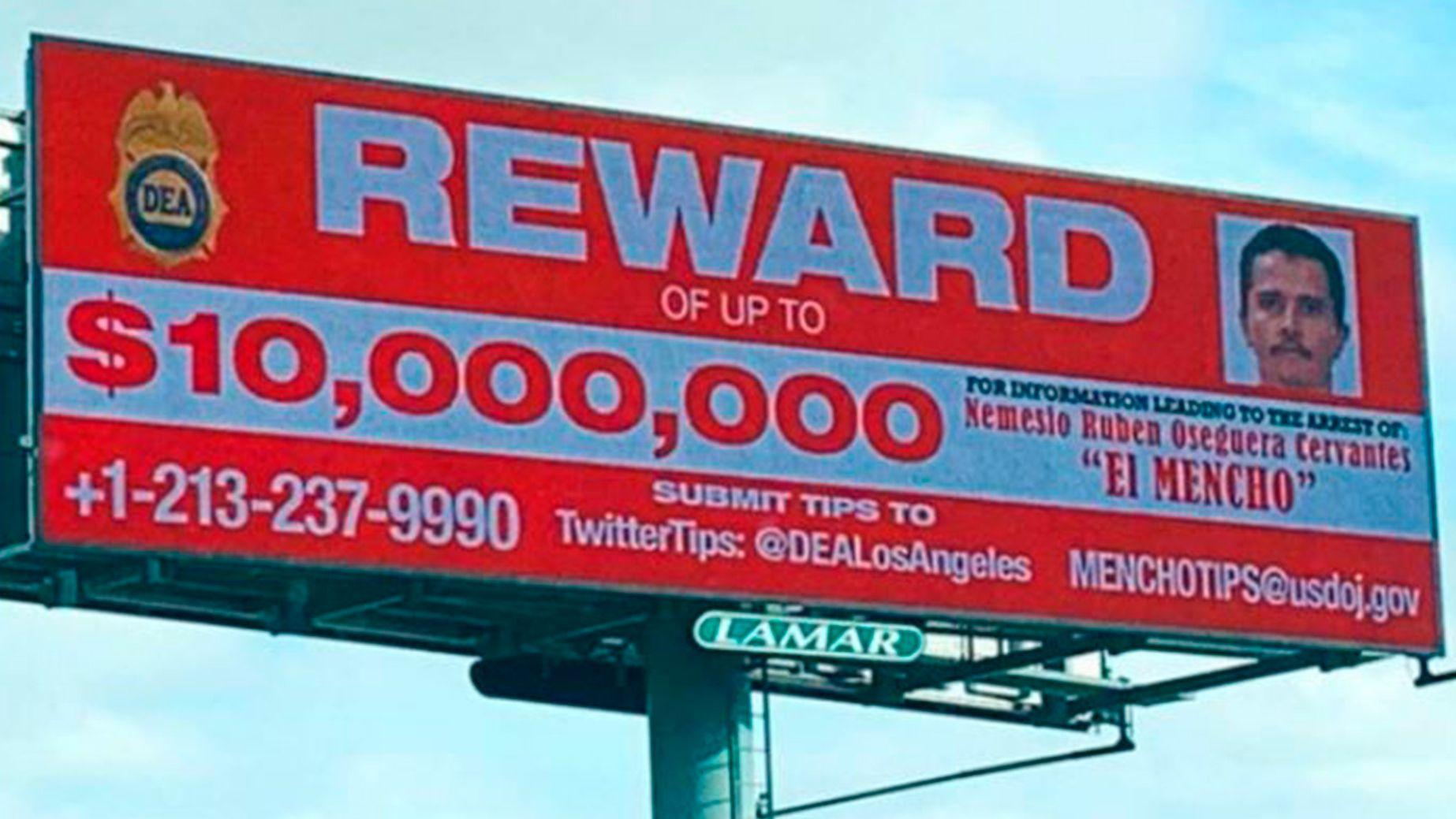 La DEA ofrece 10 millones de dólares por la captura de El Mencho (Foto: Archivo)