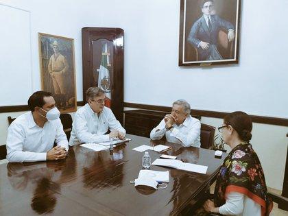 AMLO LLAMADA A BIDEON 19-12-2020 (Foto: Twitter/@m_ebrard)