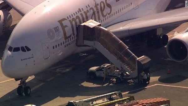 El avión de Emirates estuvo en cuarentena el jueves
