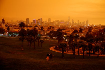 El centro de San Francisco visto desde el Dolores Park este miércoles REUTERS/Stephen Lam
