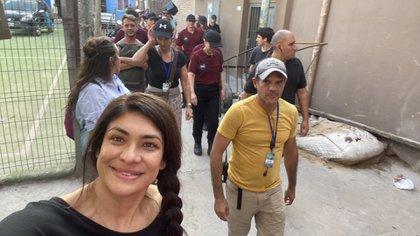 El detrás de escena de la filmación en el Barrio 31 de Retiro