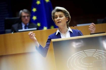 La presidenta de la Comisión Europea, Ursula van der Leyen (Francisco Seco / Pool a través de REUTERS)