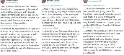 Los tuits de Donald Trump