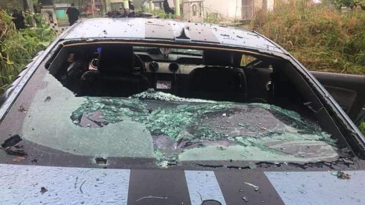 """El """"Kalimba"""" viajaba en un auto deportivo cuando un grupo criminal le cerró el pasó y lo atacó a balazos. El vehículo quedó con más de 50 orificios (Foto: Especial)"""