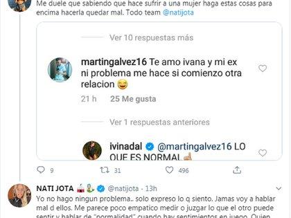 El comentario de Ivana Nadal y la respuesta de Nati Jota