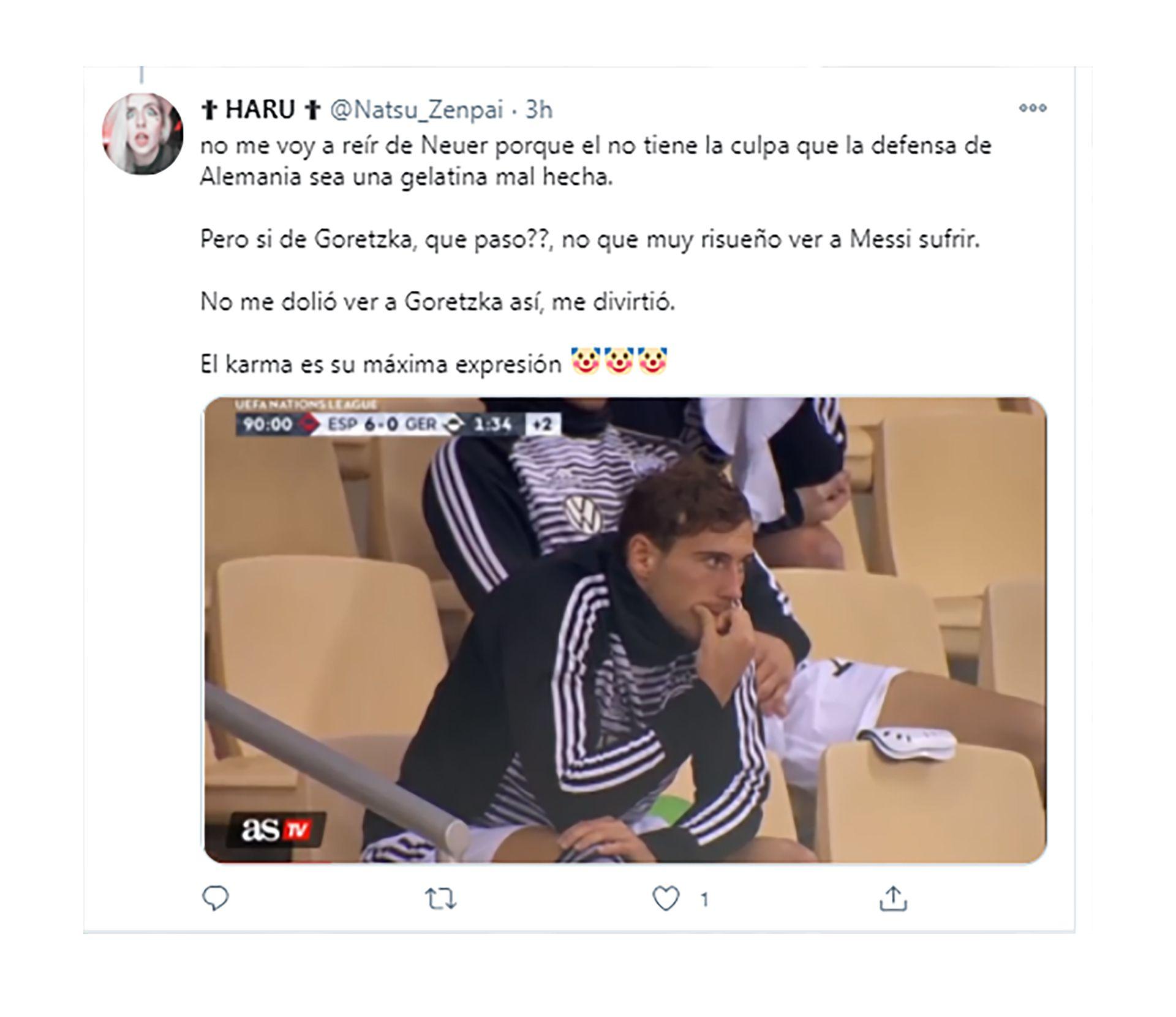 memes León Goretzka por el 0-6 de Alemania contra España