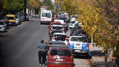 Los cortes generaron largas filas para cargar combustible en varias ciudades patagónicas (Fabian Ceballos)