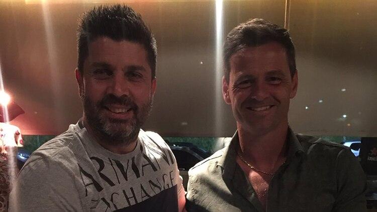 Bragarnik, junto a Diego Cocca, uno de los entrenadores de su staff