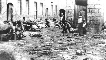Archival footage of the Armenian Genocide.
