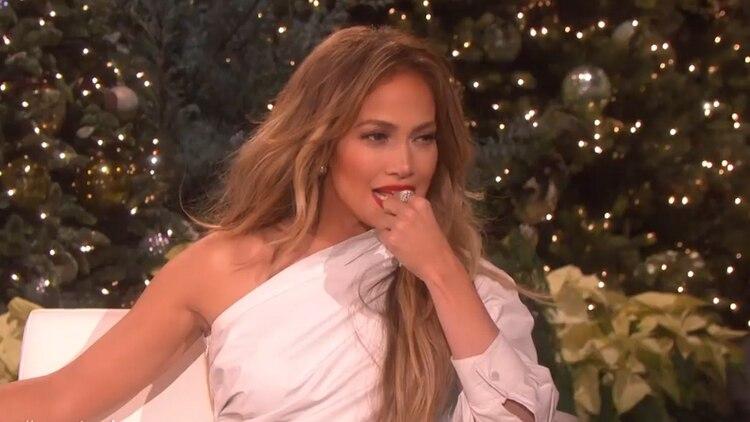Jennifer Lopez se puso nerviosa en el programa de Elle DeGeneres