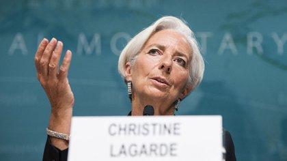 La directora gerente del FMI celebró el giro de la politica económica del nuevo Gobierno AFP 162