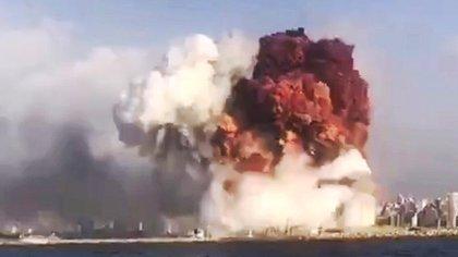 La enorme detonación fue registrada por el Sistema Internacional de Vigilancia (SIV) de la organización, una red mundial de instalaciones de vigilancia sismológica, hidroacústica e infrasónica. EFE/EPA/·tayyaraoun1